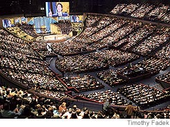 large church congregation